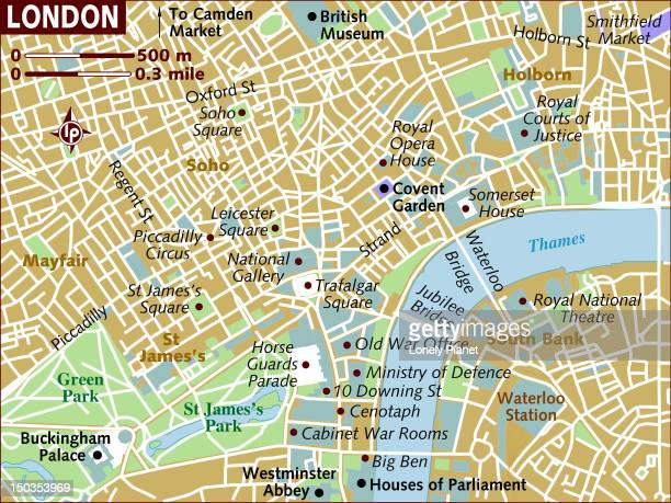 Map of London.