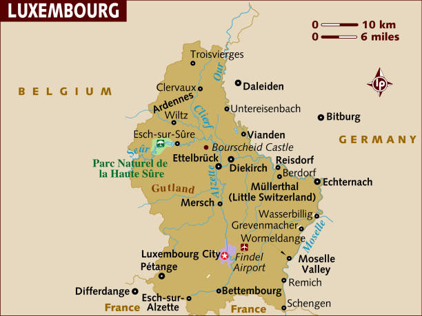 Map of Luxembourg.