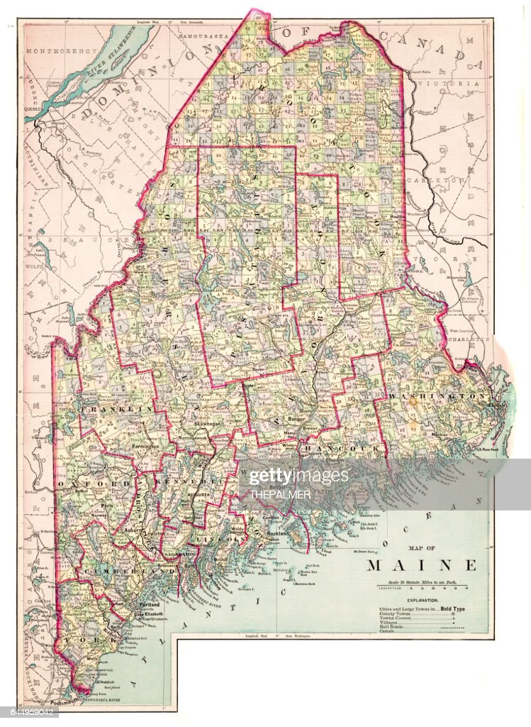 Map Of Maine Usa 1883 High-Res Vector Graphic - Getty Images Maine In Usa Map on usa map michigan, usa map oklahoma, usa map minnesota, usa map georgia, usa map new york, usa map kentucky, usa map florida, usa map maryland, usa map california, usa map mississippi, usa map hawaii, usa map new hampshire, usa map alabama, usa map pennsylvania, usa map connecticut, usa map virginia, usa map vermont, usa map portland, usa map nevada, usa map arizona,