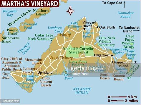 Map Of Marthas Vineyard stock illustration - Getty Images Marthas Vineyard Map on