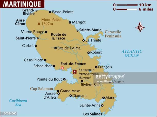map of martinique. - martinique stock illustrations