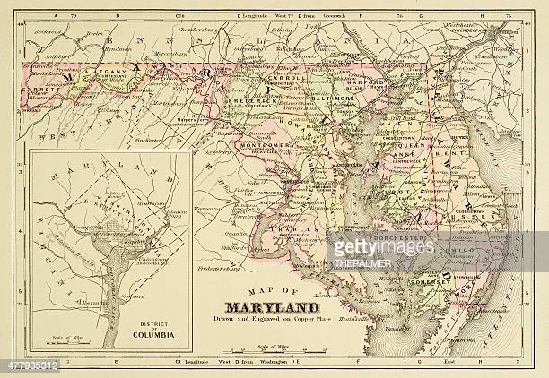 Map of Maryland 1894