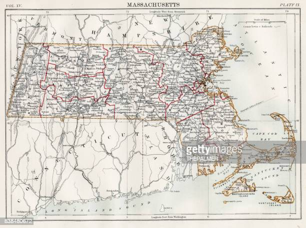 Map of  Massachusetts 1883
