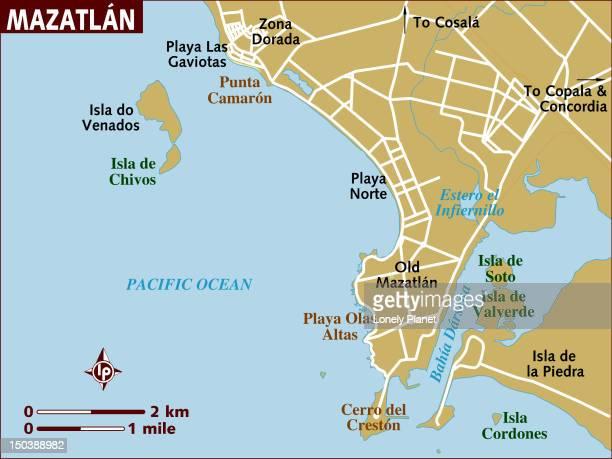 ilustrações, clipart, desenhos animados e ícones de map of mazatlan. - estados da costa do golfo