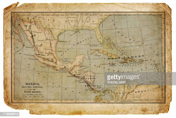 map of mexico, central america and the west indies