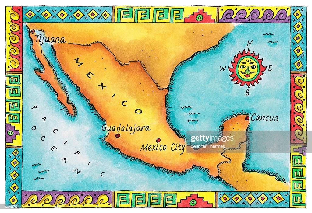 Map of Mexico : Stock Illustration