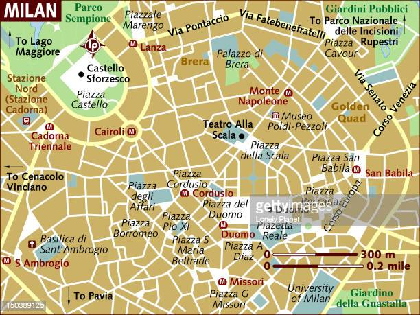 map of milan. - milan stock illustrations, clip art, cartoons, & icons