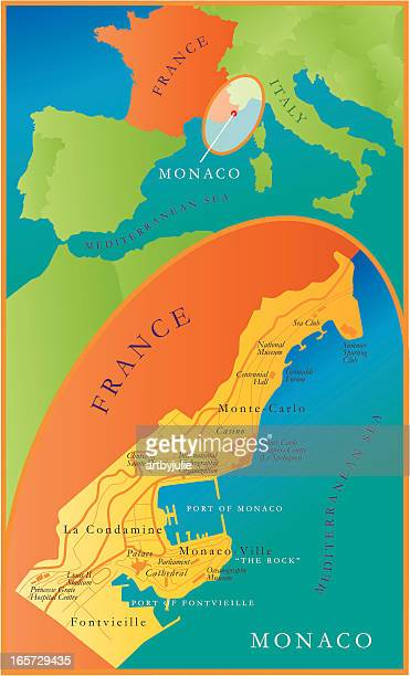 map of monaco - monte carlo stock illustrations, clip art, cartoons, & icons