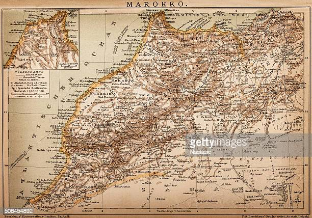 map of morocco - morocco stock illustrations, clip art, cartoons, & icons