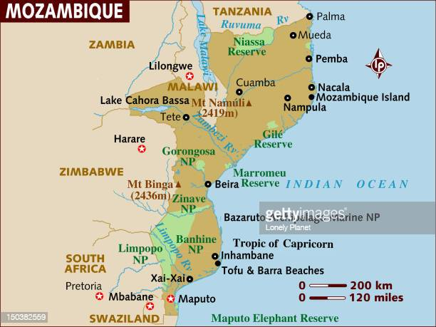 map of mozambique. - mozambique stock illustrations, clip art, cartoons, & icons