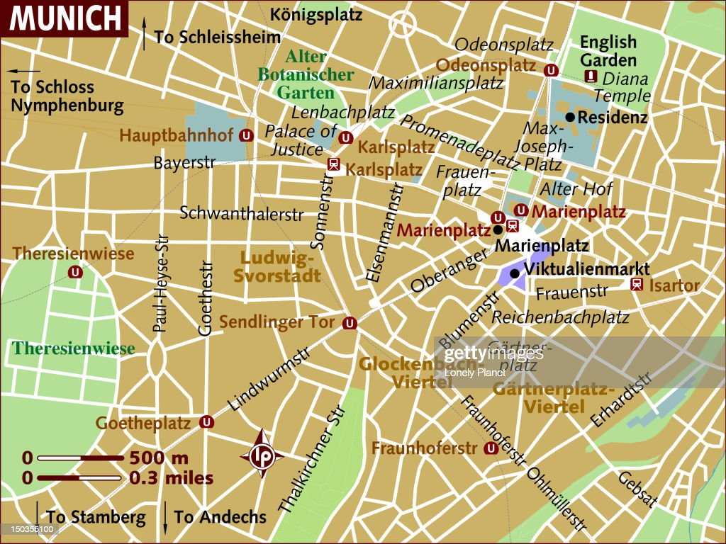 Map Of Munich Stock Illustration Getty Images