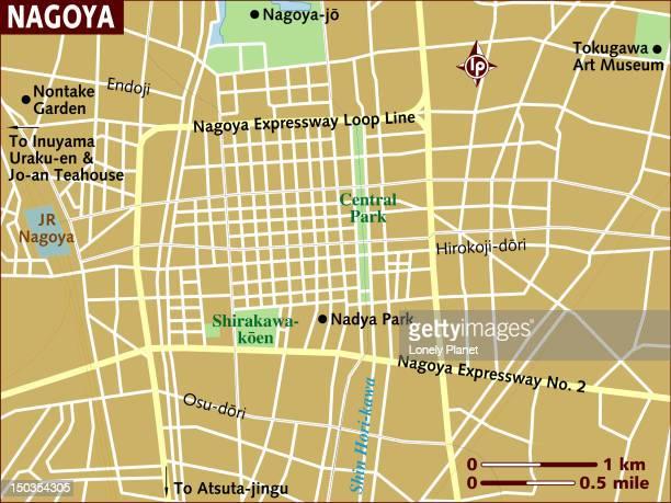 Map of Nagoya.