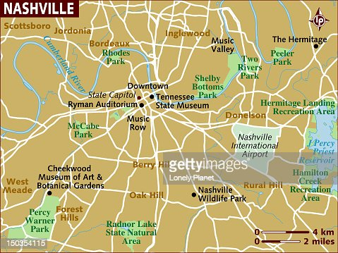 Map Of Nashville Stock Illustration | Getty Images
