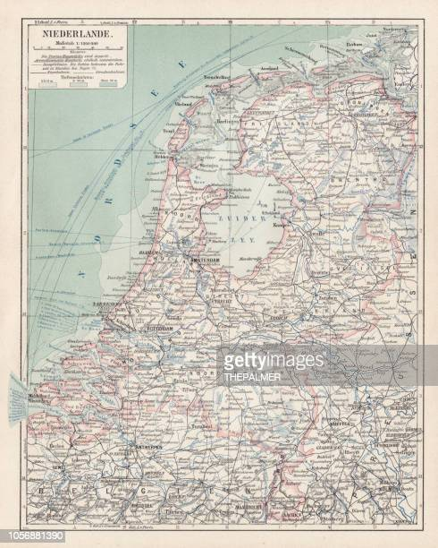 Map of Netherlands 1900