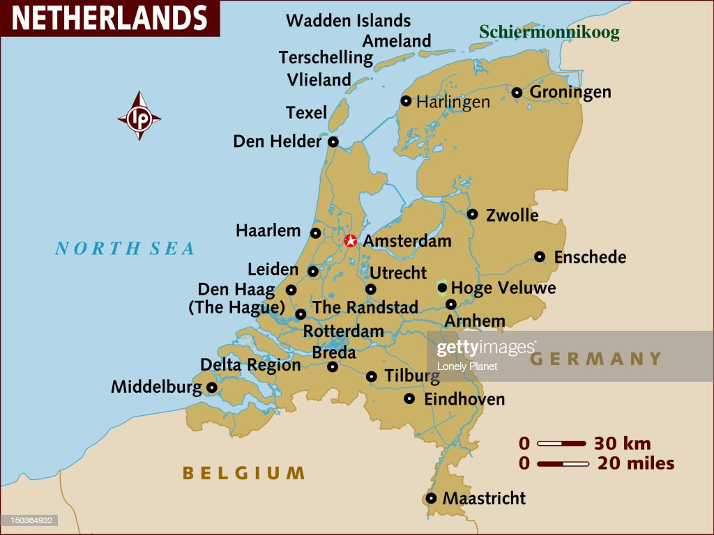 Map Of Netherlands Stock Illustration Getty Images