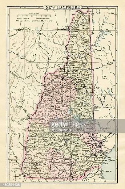 Map of New Hampshire 1885