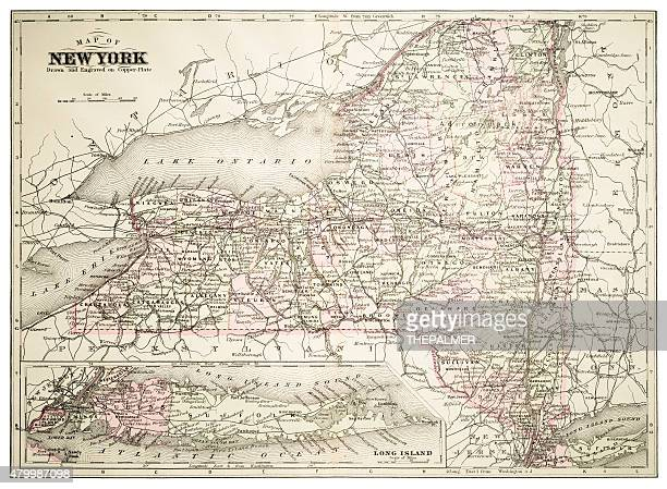 Map of New York 1894