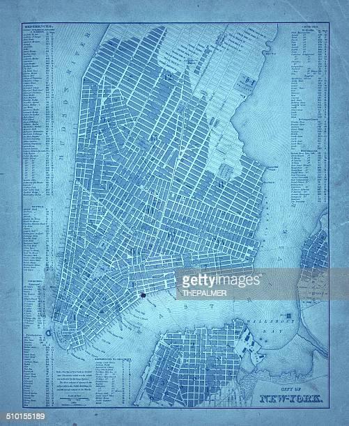 map of new york city 1835 - brooklyn new york stock illustrations, clip art, cartoons, & icons