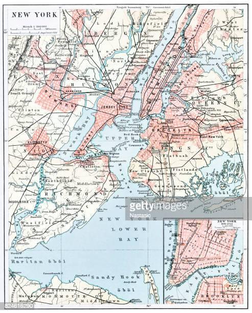 Map of New York city 1896