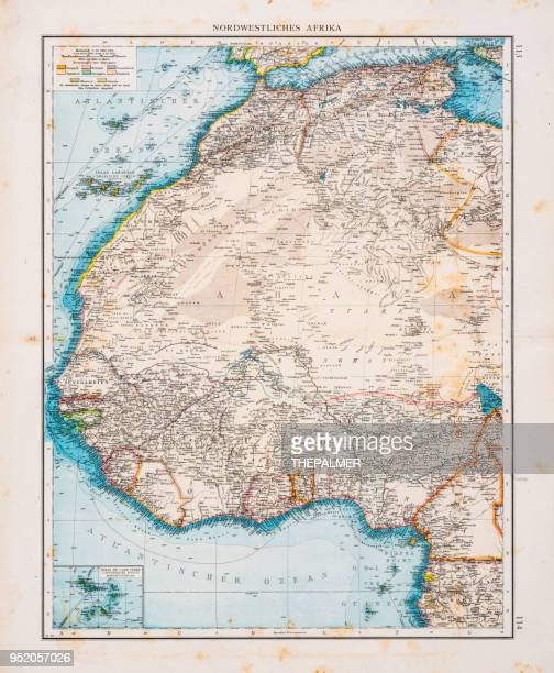 map of north africa 1896 - senegal stock illustrations, clip art, cartoons, & icons