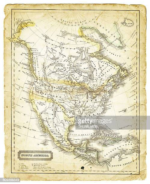 Map of North America 1821