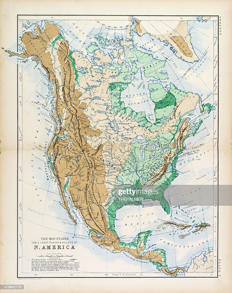 Map Of America In 1861.Map Of North America 1861 Stock Illustration Getty Images