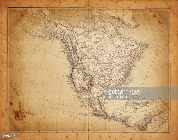 map of north america 1864
