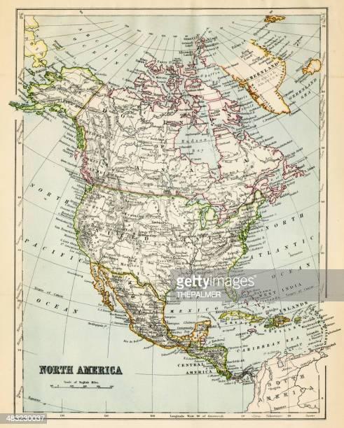 Mapa da América do Norte 1882
