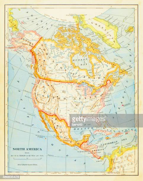 1883 Map Of North America