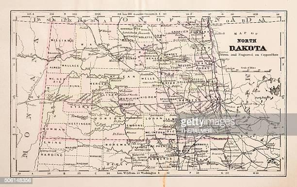 Map of North Dakota 1894