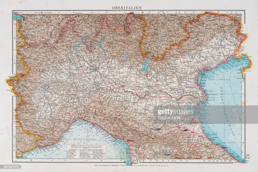 ITALY MAP from 1896
