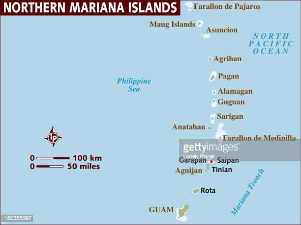 Map of Northern Mariana Islands.