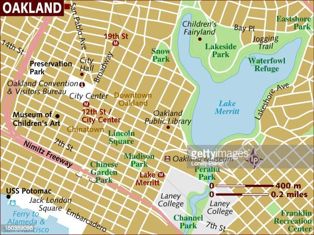 Map of Oakland.