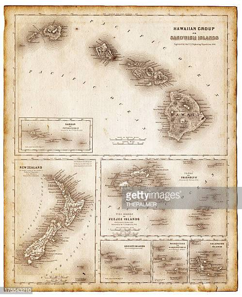 map of pacific islands 1855