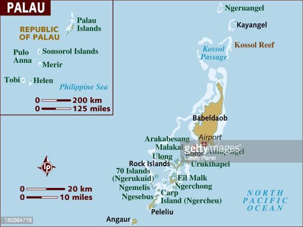 Map of Palau.