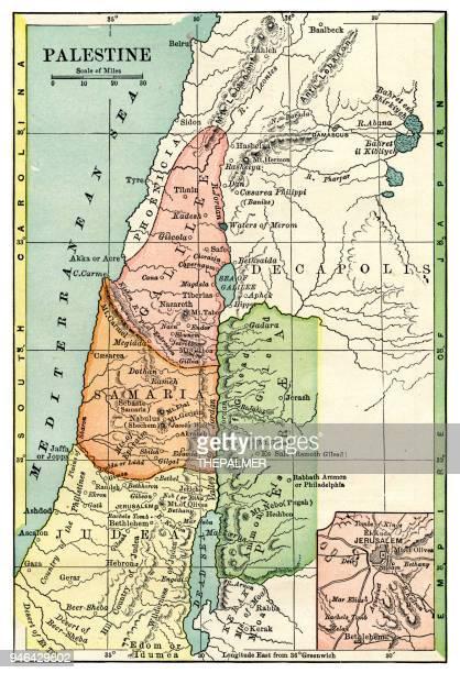 Map of Palestine 1889