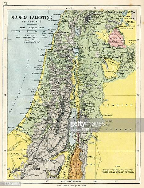 map of palestine - historical palestine stock illustrations