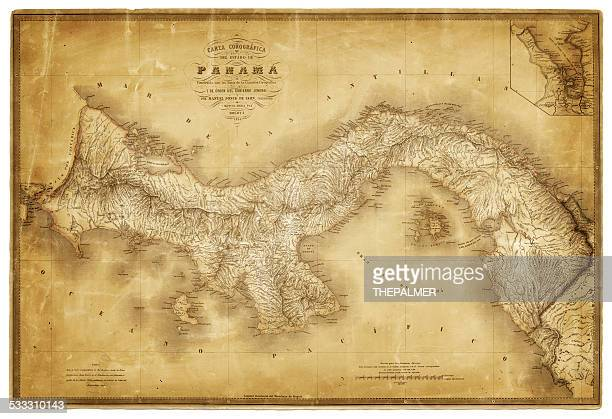 Map of Panama 1864