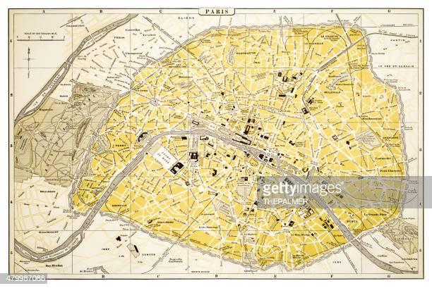 Map of Paris 1894