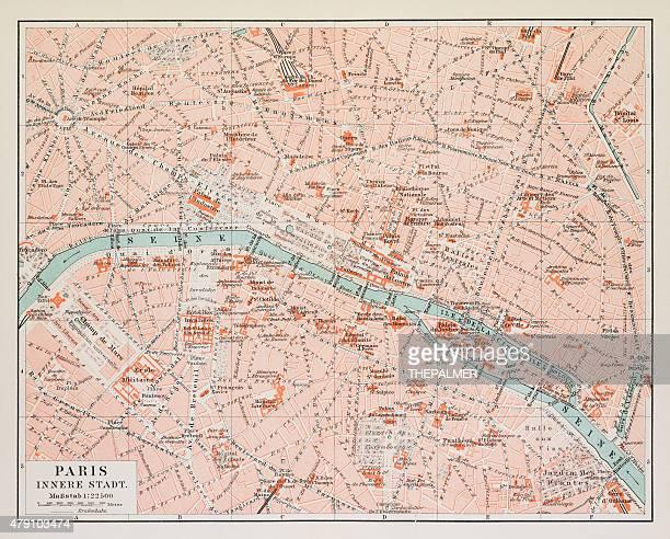 Map of Paris 1895