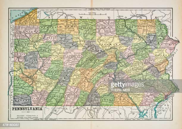 Map of Pennsylvania 1883