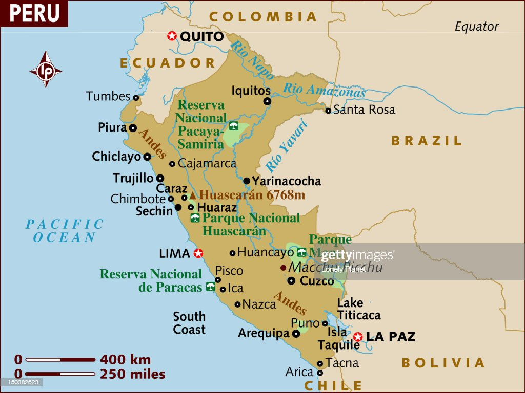 Map Of Peru Stock Illustration Getty Images - Map of peru