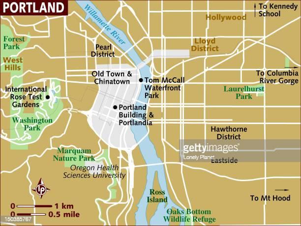 Map of Portland.