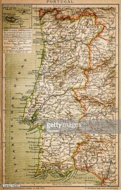 map of portugal - iberian peninsula stock illustrations, clip art, cartoons, & icons