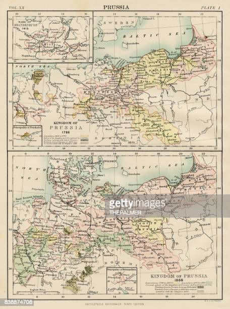 Map of Prussia 1883