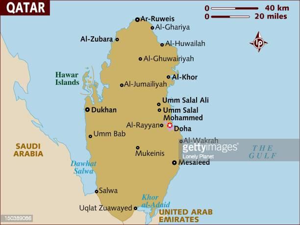map of qatar. - qatar stock illustrations, clip art, cartoons, & icons