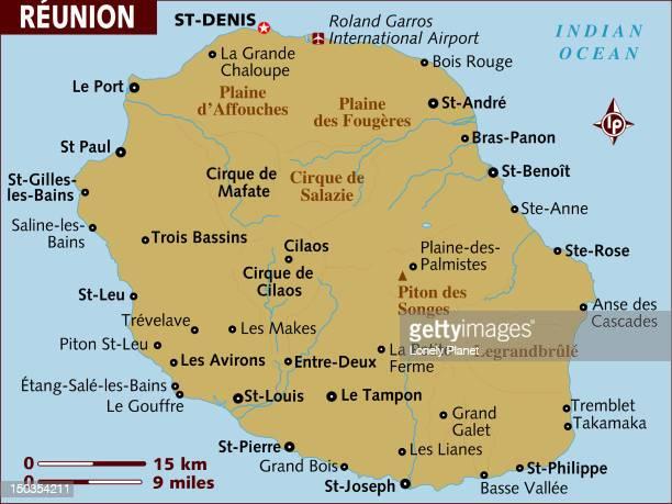 Map of Reunion.