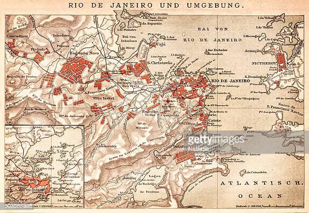 Map of Rio de Janeiro 1898