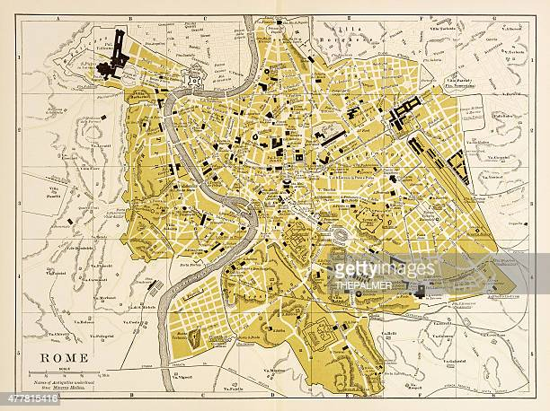 Map of Rome 1894
