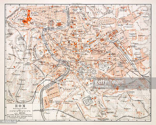Map of Rome 1896